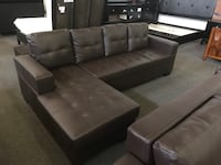 Brand new brown faux leather sectional sofa warehouse sale  多伦多, M1V 1E8
