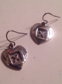 9.25 Silver Heart earrings