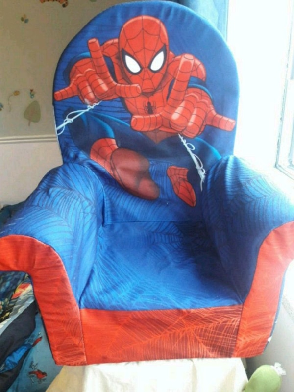toddler's blue and red Spider-Man sofa armchair