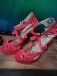 """Red stiletto from """"justfab""""  Victoria, V9B 5S7"""