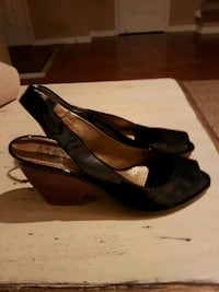 New patent leather wedge sandals