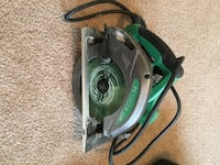 black and green Hitachi circular saw Clarksville, 37043