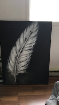 White feather painting Yamachiche, G0X