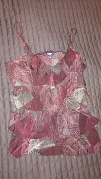 Women's purple patterned size Large tank too Belleville, K8N 4Z4