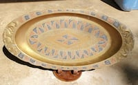 24-inch Antique Middle Eastern multi-colored brass Tysons