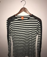 black and white striped long-sleeved shirt Toronto, M6A