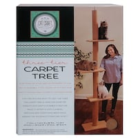 NEW IN BOX: 3 tier cat carpet tree / post *CEILING MUST BE 9ft MAX Edmonton, T6X 1G7