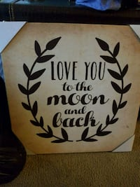 brown quote wall decor