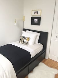 Lit simple MALM + tiroirs / MALM twin bed + drawers
