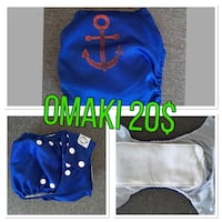 baby's blue and white polka-dot cloth diapers collage Gatineau, J9J 3N9