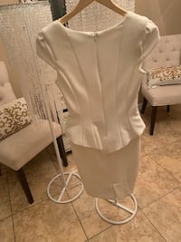 Zara white peplum midi dress Edmonton, T5X 5L5