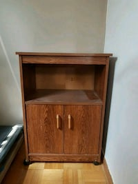 brown wooden cabinet with shelf Mississauga, L4W 2M1