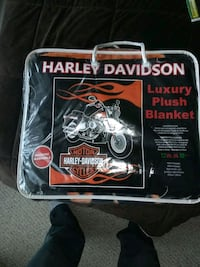 New  Harley Davidson plush Blanket