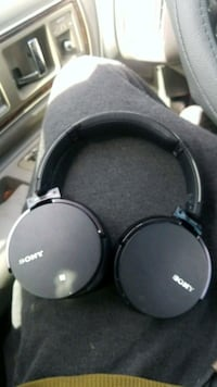 black and gray Sony corded headphones Dallas, 75243