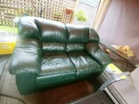 Green leather loveseat Surrey, V3S 4A5