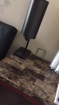 black and gray floor lamp Chesterfield, 63017