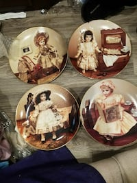 Set of 4 GORHAM yesteryears doll museum plates
