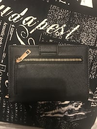 Zara black and white wallet with passport slot