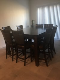 Solid wood Dinner table w/ 8 chairs