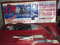 bred and black Milwaukee Sawzall reciprocating saw with case Surrey, V3W 6E1