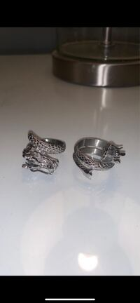 Stainless Steel Dragon Wrap Rings