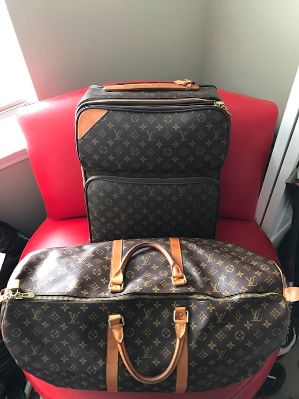 da695604a Used Black and brown louis vuitton leather handbag for sale in ...