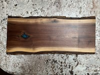 Live Edge Walnut cheese board Blue Tinted Resin Oakville, L6K 1T6