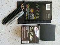 Black note pads & white pencils 26 km