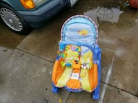 baby's blue and orange bouncer Oakley, 94561