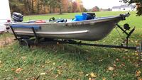 40 hp motor with aluminum boat and trailer trolling motor included Mecosta, 49342