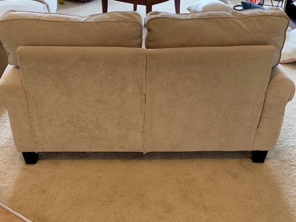 Matching Serta Sofa and Loveseat in Marzipan 2