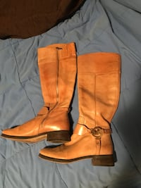 Michael Kors tan leather boots