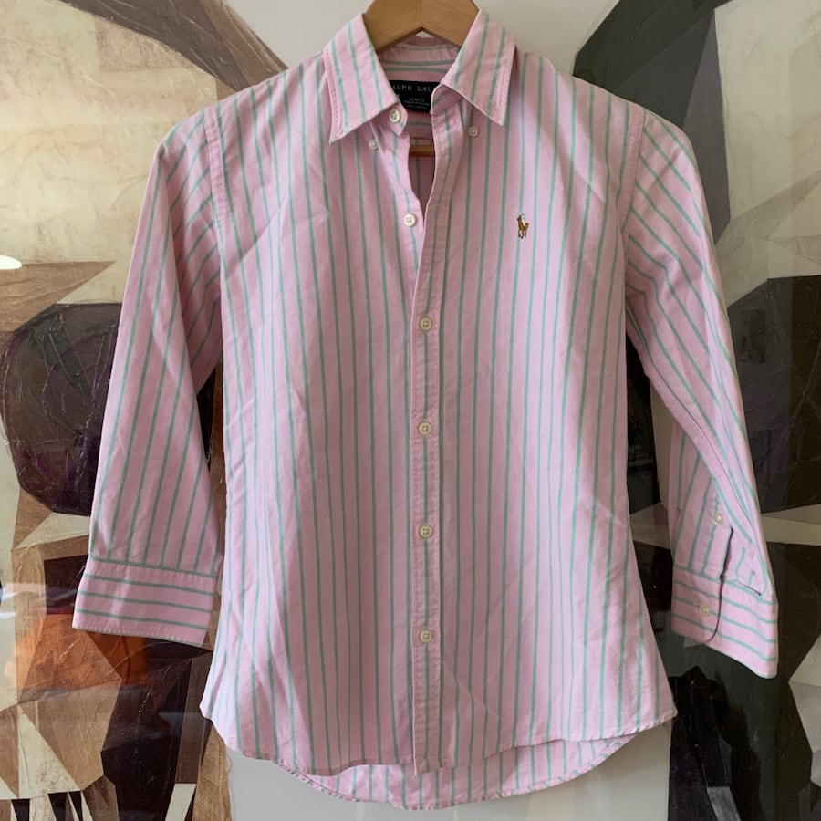 Ralph Lauren striped women's dress shirt. Slim fit size 2