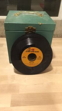 Box of 45's records Bethpage, 11714