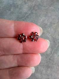Red Crystal Pierced Earrings San Jose, 95118