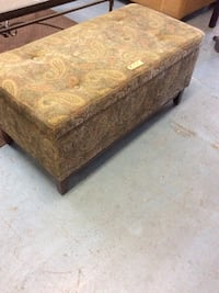 brown and beige floral ottoman Modesto, 95350