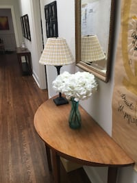 French Country-Style Round Demilune Table