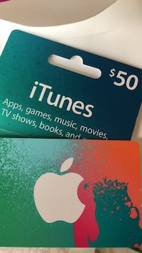 Itunes gift card LOCAL PUCK UP ONLY