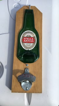 Stella Artois green and beige bottle cap opener Brookhaven, 11951