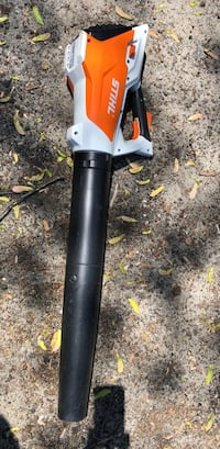 Orange and white stihl leaf blower(Battery) Gamewell, 28645