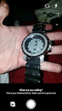 Men's Iced Watch Diamond Found Cleaning.
