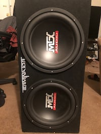 Black mtx audio subwoofer speaker Fairfax, 22030