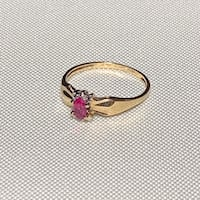 Genuine 10k Gold Pink Sapphire Ring