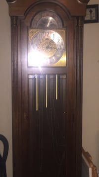 brown grandfather clock