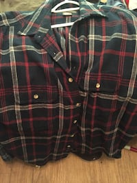 black and red plaid button-up shirt Woodlake, 93286