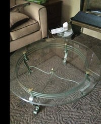 Wrought Iron Tempered Glass Coffee Table Bear, 19701