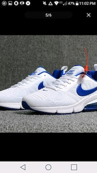pair of white-and-blue Nike running shoes Hedgesville, 25427