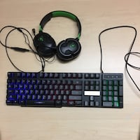 Turtle beach headset with a led keyboard