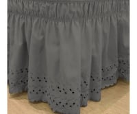 Ruffled bedskirt grey fits queen/ king size San Antonio, 78259