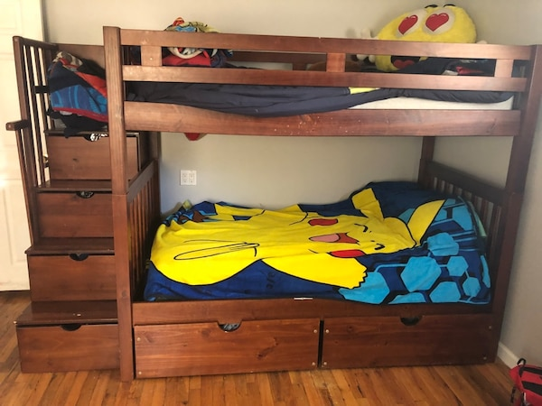 Bunk Beds Full Size Bottom Twin Top Mattresses Not Included